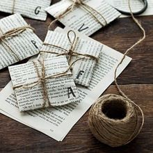 Nuttig 30 M Jute Twijn Natuurlijke Sisal Rustieke Tags Wrap Bruiloft Decoratie Ambachten Twisted Touw String Cord Evenementen Feestartikelen(China (Mainland))