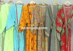 Long Kimono, Kimono Dress, Floral Kimono, Kimono Jacket, Cotton Kimono, Cotton Saree, Festival Outfits, Festival Clothing, Wedding Kimono
