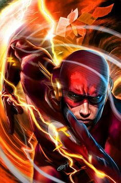 The Flash (Barry Allen) aka lito Heros Comics, Marvel Comics, Arte Dc Comics, Dc Comics Art, Dc Heroes, Marvel Art, Marvel Avengers, Kid Flash, Flash Tv