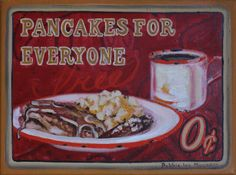 Pancake Breakfast, My Images, Fine Art, Painting, Life, Painting Art, Paintings, Painted Canvas, Drawings