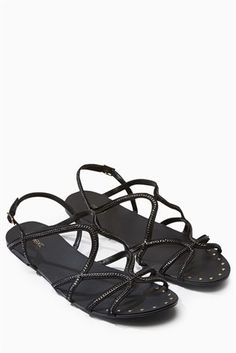a35fba192fc8 Buy Black Chain Cross Strap Sandals from the Next UK online shop Holiday  Outfits
