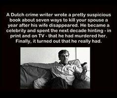 The crime writer.