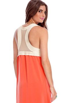 Hi-Low Can You Go Dress in Coral $35 at www.tobi.com