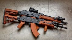 A Full Metal Airsoft Replica of the Magpul AK available to buy in London UK Ar Pistol, Battle Rifle, Assault Rifle, Cool Guns, Airsoft Guns, Guns And Ammo, Tactical Gear, Shotgun, Firearms