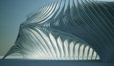 flow03 Architecture Paramétrique, Cultural Architecture, Organic Architecture, Futuristic Architecture, Architecture Organique, Chicago Landscape, Geometric Shapes Art, Organic Structure, Parametric Design