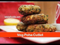 Veg poha cutlet recipe/easy vegetarian evening snacks/Indian tea time sn...
