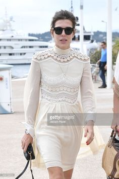 5.23.17 Charlotte Casiraghi at Kering's Women in Motion Lunch with Madame Figaro at Cannes