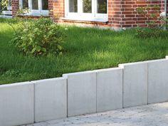 Mauerscheibe, Baulänge 99 cm – Oberfläche Sichtbeton, Farbe steingrau