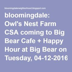 bloomingdale: What's a CSA? Community Supported Agriculture, or CSA, is a produce subscription program where eaters pay in advance and get a share of the produce grown on the farm throughout the season.