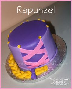 Minimalist Disney Tangled Rapunzel Birthday Cake- could add the Sun sign on the top, with a figurine in the middle?