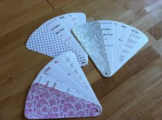Petal Fan Wedding Program Deposit by alisamariedesigns on Etsy, $50.00