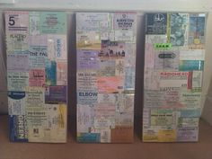 Decoupage Gig Ticket Canvas : A tutorial by Kt Bing - great website too
