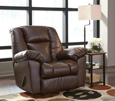 Knoxton - Chocolate - Rocker Recliner