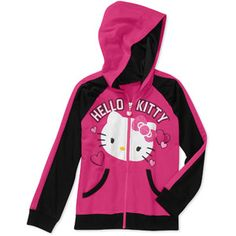 Hello Kitty Girls' French Terry Full Zip Hoodie