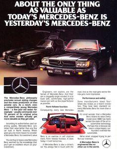 The 1972-89 Mercedes SL ad