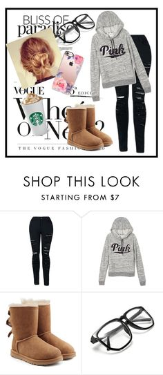 """Lazy day outfit"" by emoji678 ❤ liked on Polyvore featuring Victoria's Secret, UGG and Casetify"