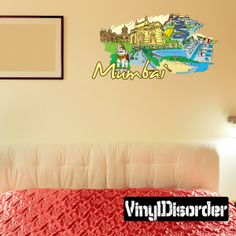 Town Buildings Decal City Street Decal City Wall Sticker - Wall decals mumbai