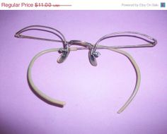 BLOWOUT SALE Gold Filled Eye Glass Rims Missing by HeartsMaddness, $8.25