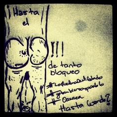 hasta el culo de tanto bloque. el peor bloqueo es el mental - @villalobos1910- #webstagram #oaxaca #draw #freemind