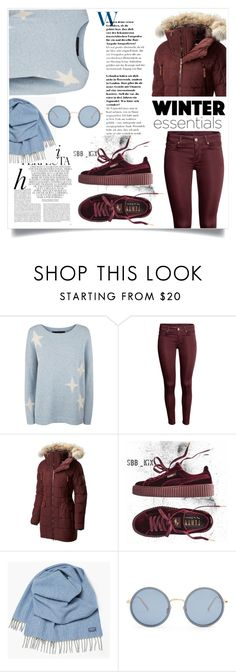 """only two colors"" by naomy-nona ❤ liked on Polyvore featuring 360 Sweater, SOREL, Puma, Whiteley, Faribault Woolen Mill Co. and Linda Farrow"