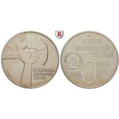 DDR, 5 Mark 1978, Antiapartheid, vz, J. 1569: Kupfer-Nickel-5 Mark 1978. Antiapartheid. J. 1569; vorzüglich 10,00€ #coins