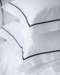 Neutral Bed Linen, Black Bed Linen, Bed Cover Design, Bed Linen Design, White Bedding, Linen Bedding, Bed Linens, Bedroom Closet Storage, Embroidered Bedding