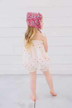 900843b0549 Little Goodall Periwinkle Bloom Bubble Romper for girls  Liberty ...