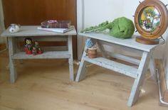 Shabby Chic / Rustic Pair of Small Wooden by RoseGardenEmporium, £44.95