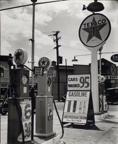 Gasoline station, Tremont Avenue and Dock Street, Bronx. (July 02, 1936) - 11 cents a gallon (+ 4cents tax)