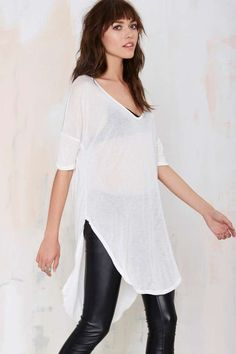 Here For You Tunic Tee - White