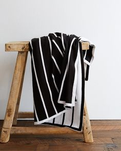 Breton Stripe Organic Stroller Blanket in black and white for your urban dwellers that want something gender neutral and chic