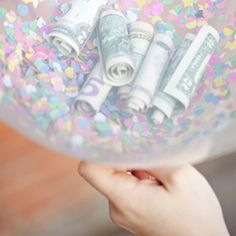 Absolutely the most fun way to give a money gift! Watch them pop balloons full of confetti. They can count their money after cleanup!