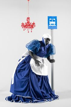 """Mary Sibande is an artist of South Africa. His latest creation is """" Long Live The Dead Queen"""" , a series of murals and photographs"""