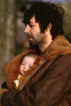 Paul McCartney baby wearing - love this photo so much <3