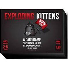 Exploding Kittens NSFW Edition Sort Boks Not Safe For Work Edition