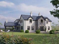 East Of 81 Garvaghy Church Road, Banbridge - Property For Sale Plans Architecture, Farmhouse Architecture, Stone Exterior Houses, Dream House Exterior, Deco Design, Design Case, Dormer House, Dormer Bungalow, Lofts
