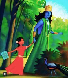 Krishna Drawing, Cute Krishna, Sweet Lord, Hindu Art, Lord Krishna, Hinduism, Spiritual Awakening, Indian Art, Disney Characters