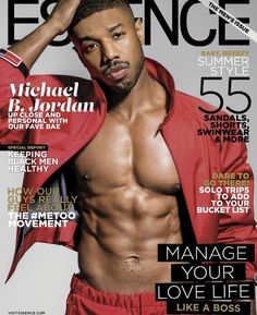 """""""Black Panther"""" and """"Fahrenheit star Michael B. Jordan covers the June 2018 issue of Essence magazine photographed by Michael Rowe. Michael B Jordan Shirtless, Michael Rowe, Michael Bakari Jordan, Black Man, Handsome Black Men, Handsome Man, Black Boys, Black Panthers, Gears Of War"""