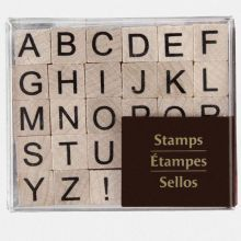 Recollections Wood Stamps, Small Upper Case Alphabet