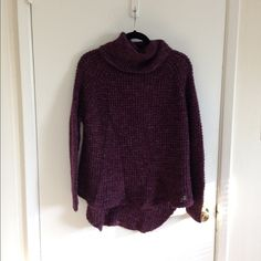 Free people Dylan tweedy sweater Purple turtle neck sweater. In great condition. Free People Sweaters Cowl & Turtlenecks