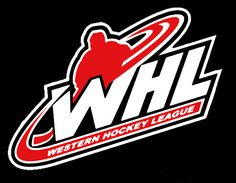 Western Hockey League Primary Logo - 'WHL' in white and black with a player silhouette in red above it Hockey Logos, Sports Logos, Nhl Jets, Canada Hockey, Playboy Logo, Coach Of The Year, Olympic Team, Vancouver Canucks, Great Logos