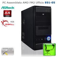"Assembled PC AMD FM2 Ufficio ""E01-O5""  CASE: Logisys CS-301+PSU 480W; HDD: Western Digital Caviar Blue 500GB; CPU: AMD A4 5300 FM2 2-Core 3.4GHz; RAM: Corsair Vengeance 1866MHz 8GB; MB: AsRock FM2A75M-DGS Socket FM2 AMD A75; VGA: integrated; http://www.e-key.it/prod-pc-assemblato-amd-fm2-ufficio-e01-o5-36623.htm"