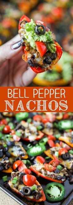 Colorful mini bell peppers stuffed with seasoned lean ground beef and black beans, topped with cheese and your favorite nachos topping. I'm excited to serve these as a healthier option at our Super Bowl party this year! For more easy food recipes, creative craft ideas, easy home decor and DIY projects, check us out at #no2pencil. #food #foodlover #drooling #recipeoftheday #recipeideas
