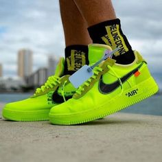 Womens size the best Nike Off-White Air Force 1 Low / OW Volt UA sneakers Cheap Sneakers, Rare Sneakers, Sneakers Mode, White Sneakers, Sneakers Fashion, Jordan Sneakers, Fendi, Gucci, Zapatillas Nike Air Force