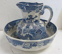 Masons ironstone bowl and pitcher : Lot 267