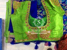 Kanchipuram pattu sarees with Maggam work blouses by Suneetha Designer boutique! Work Blouse, Blouse Designs, Sarees, Blouses, Boutique, Fashion, Moda, Scrub Tops, Saris