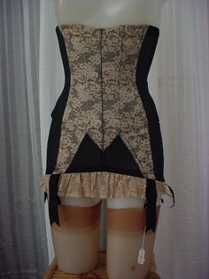 1950s Christian Dior by Lily of France Lace Girdle. Be still my beating heart.