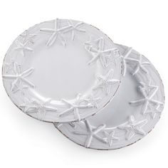 Elegantly sculpted with fine detail, our starfish dessert plates will set the perfect tablescape.
