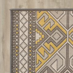 Found it at AllModern - Septfontaines Brown/Gold Area Rug