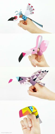 Finger Puppet Bird Printables